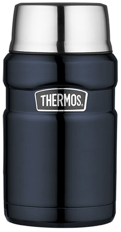 Thermos 710mL Vacuum Insulated St/Steel King Food Jar - Midnight Blue