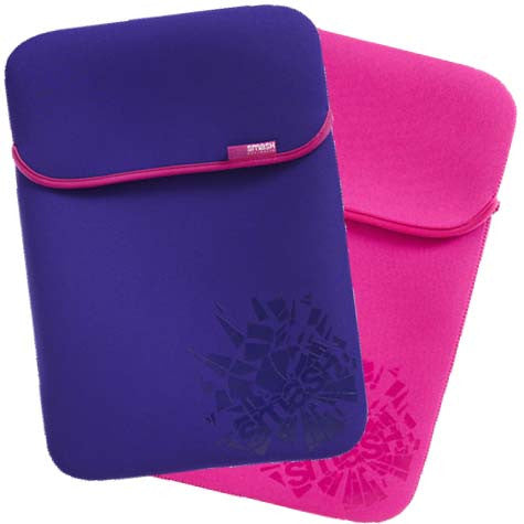 "Smash Cracked Notebook Sleeve 15.4"" Pink/Purple"