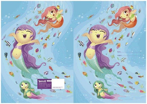 Spencil Exercise Book Cover - Mermaids