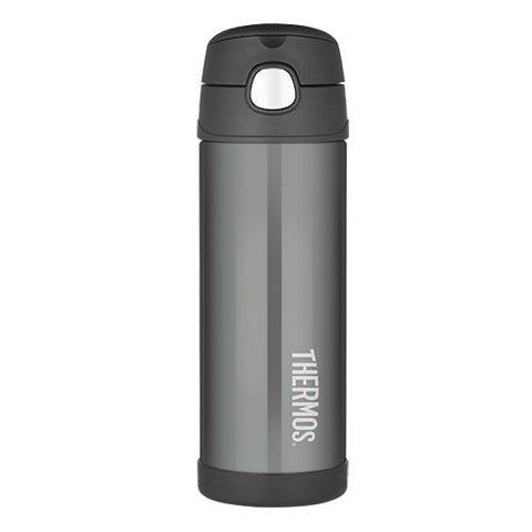 Thermos 470mL Funtainer St/Steel Vacuum Insulated Drink Bottle - Charcoal
