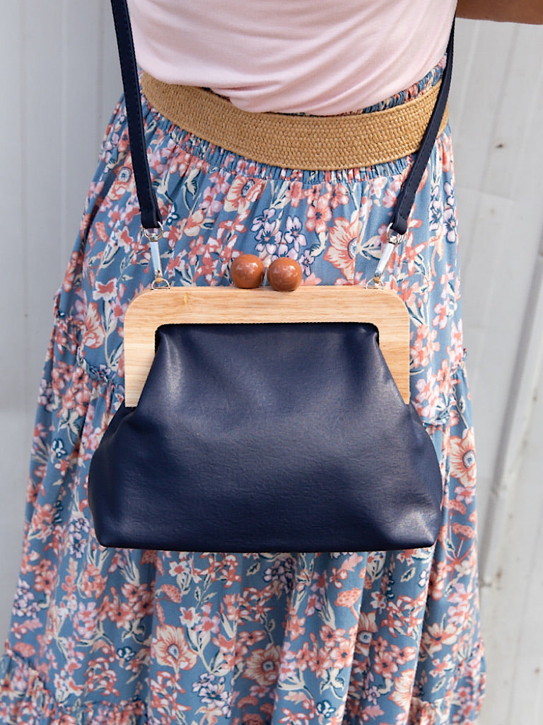 Amora Bag/ Clutch - Navy