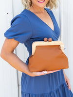Amora Bag/ Clutch - Tan