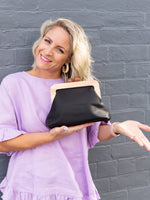 Amora Bag/ Clutch - Black