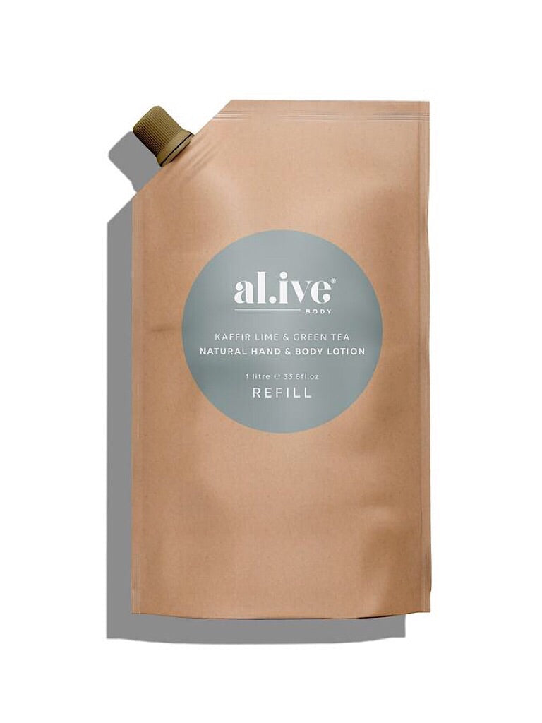 al.ive Kaffir Lime & Green Tea - Hand & Body Lotion REFILL