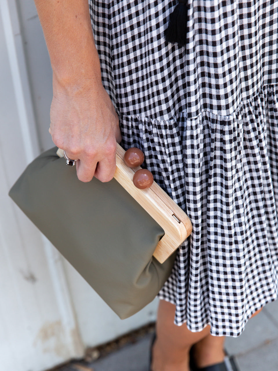 Amora Bag/ Clutch - Khaki
