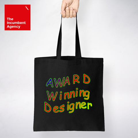 Award Winning Designer Tote Bag - The Incumbent Agency