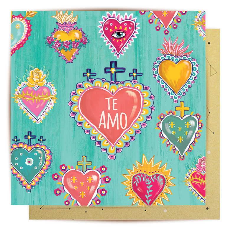 Te Amo Greeting Card - la la land Love Iluka | Bohemian Fashion | Boho Style | Spell