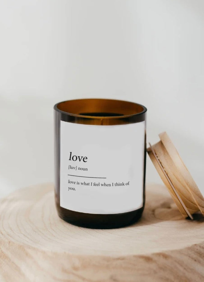 Dictionary Love Soy Candle Commonfolk
