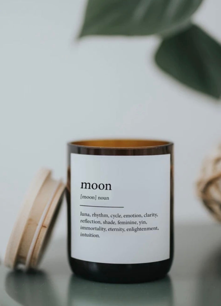 Dictionary Moon Soy Candle Commonfolk