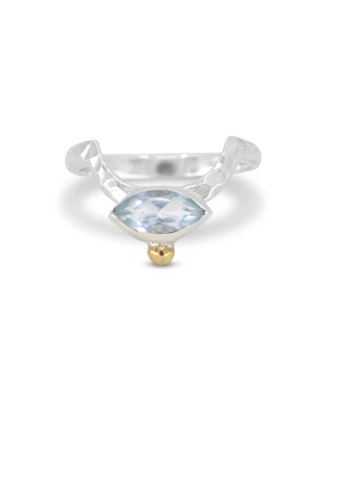 ToniMay Zenith Topaz Crescent Ring