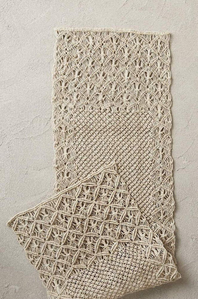 Jute Macrame Table Runner