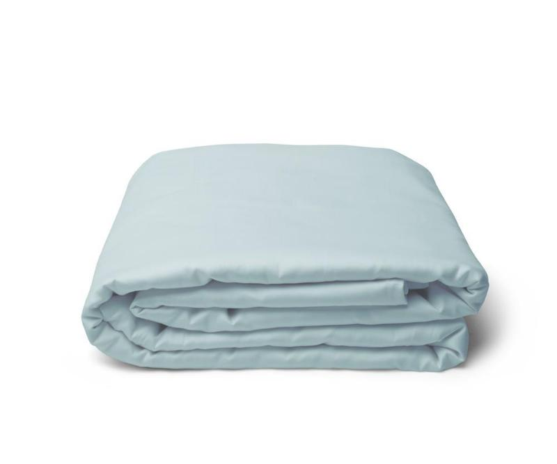 Classic Hem Duvet Cover - Aqua - JEFFERSON LANE