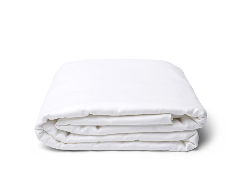 Classic Hem Fitted Sheet - Pure White - JEFFERSON LANE