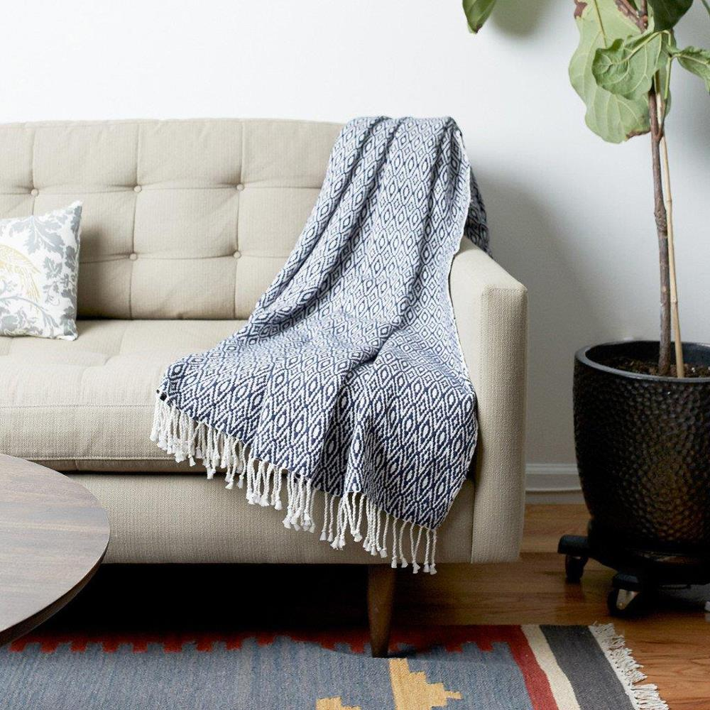 Maya Cotton Blanket - JEFFERSON LANE