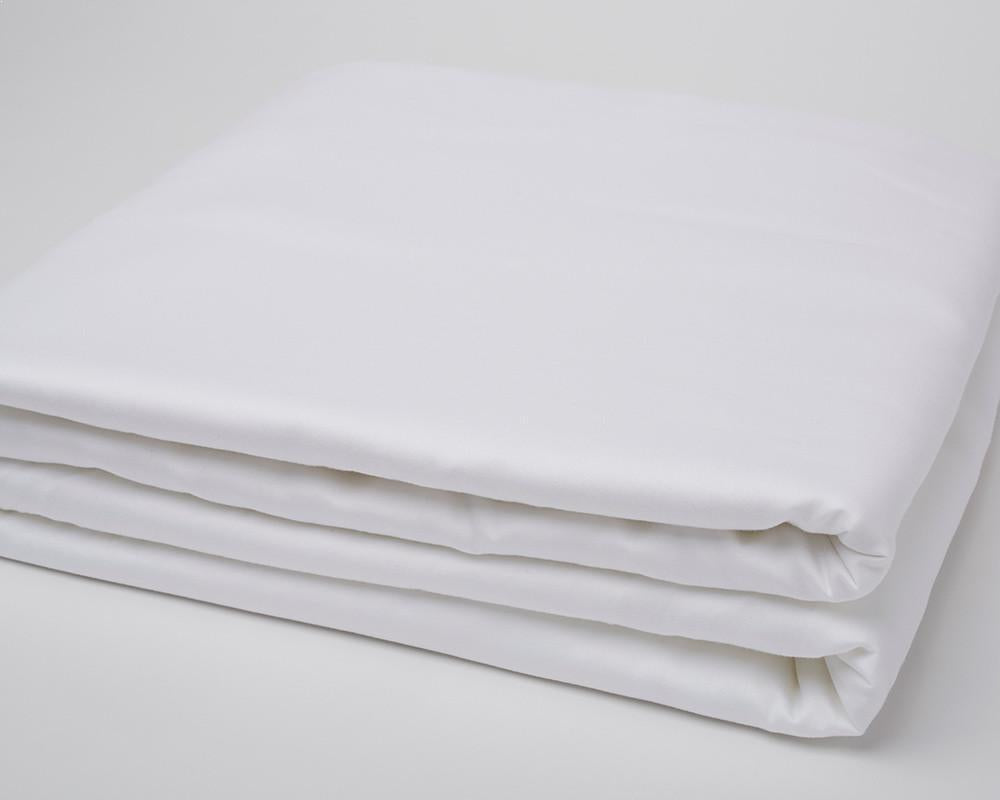 Classic Hem Duvet Cover - Pure White - JEFFERSON LANE