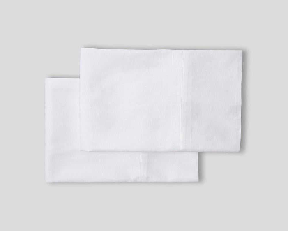 Classic Hem Pillowcases - Pure White - JEFFERSON LANE