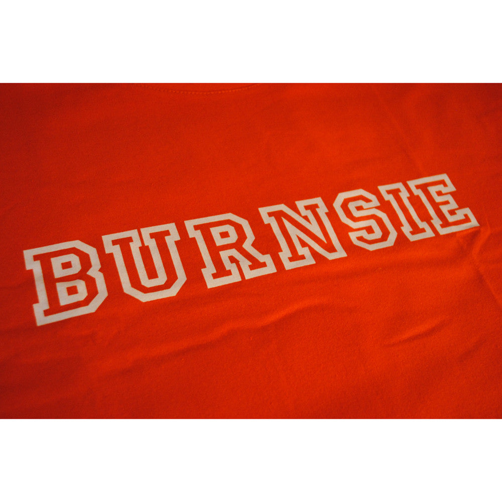 Original BURNSIE T-Shirt WHITE & NAVY