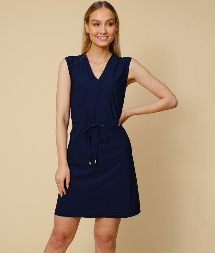 Mykonos dress in navy