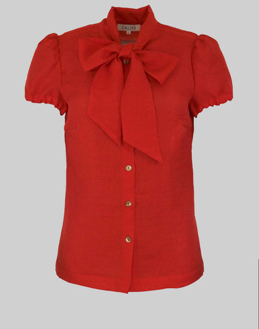 Blouse Anna in scarlet