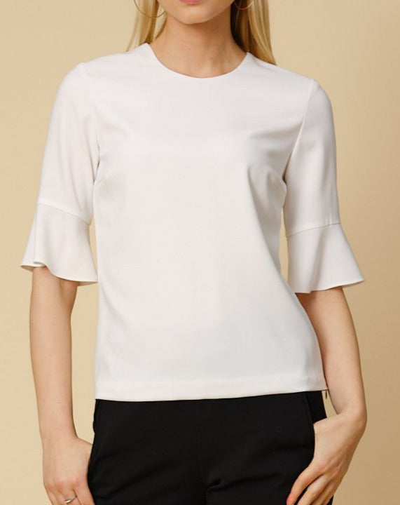Tailored top Elina in off white