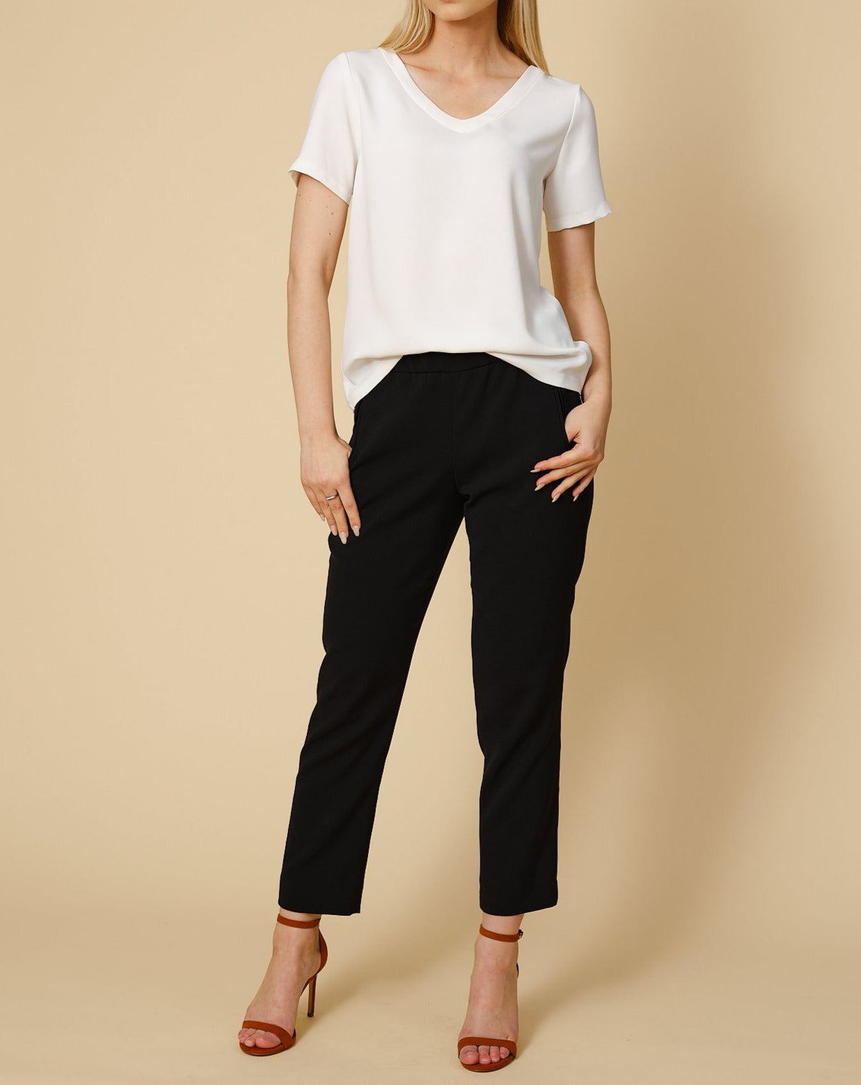 Trousers Mimmi in black