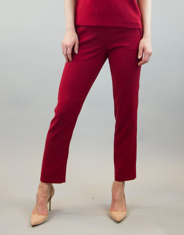 Trousers Mimmi in dark red
