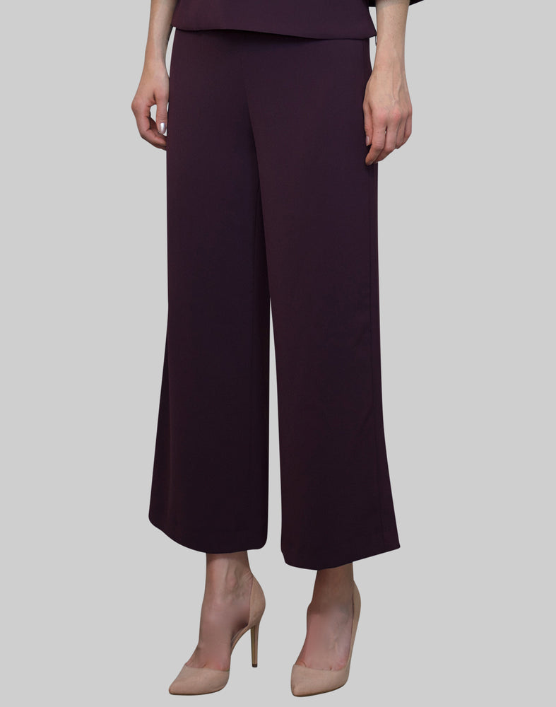 Trousers Magda in bordeaux stretch crepe