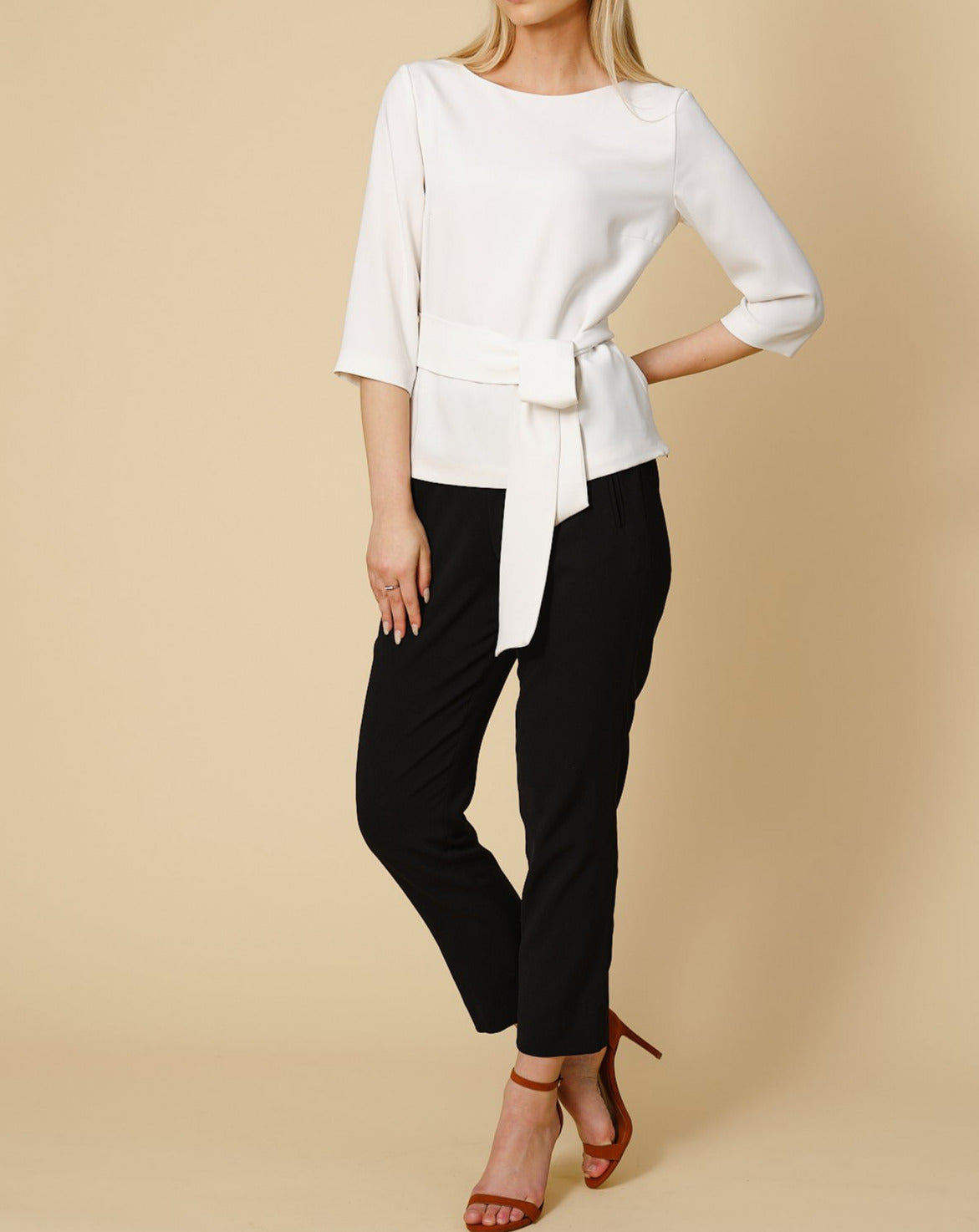 Tailored top Sophie in cream