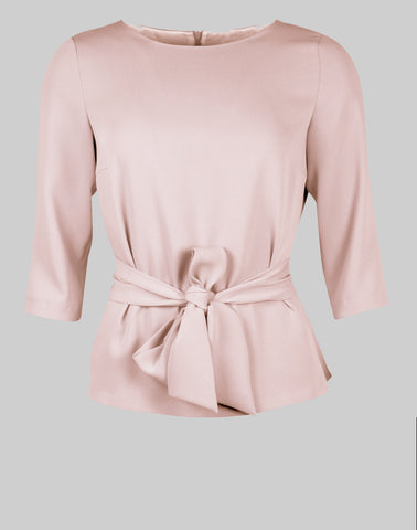 Tailored top Sophie in dusty pink