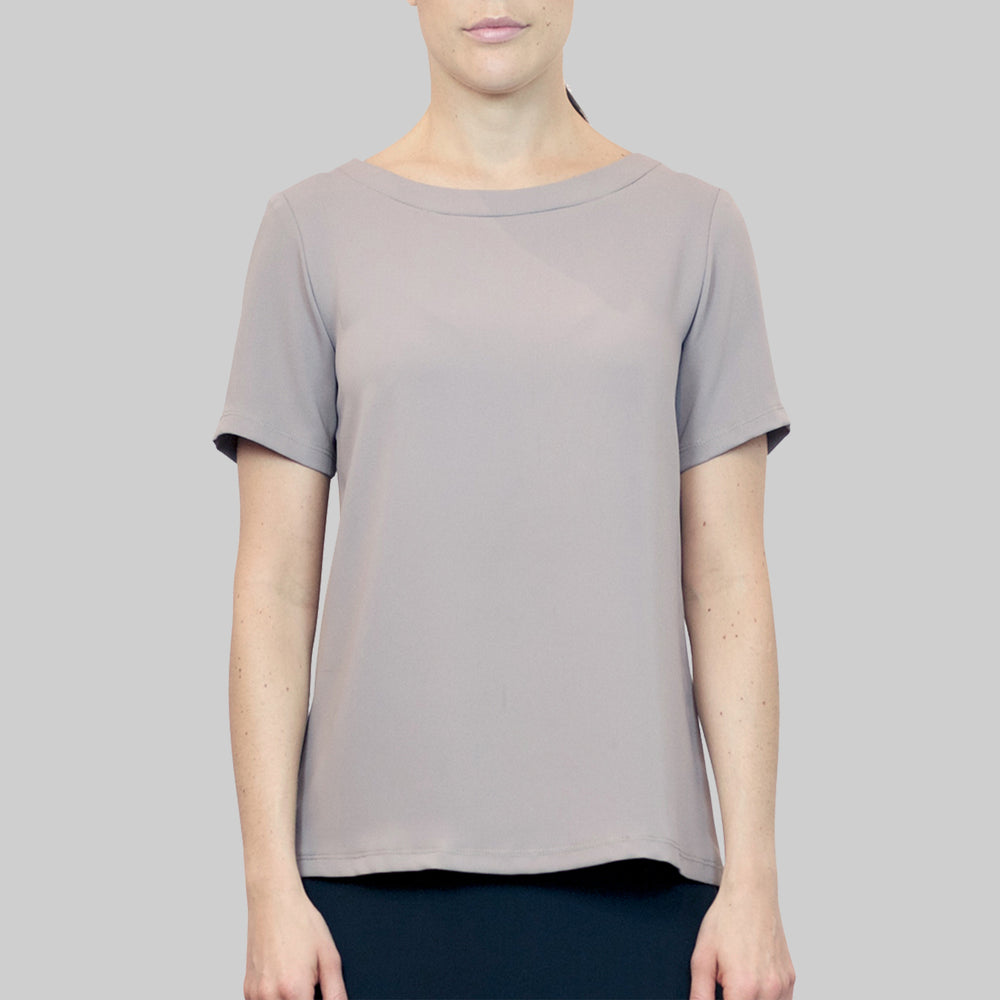 Top Liza in taupe