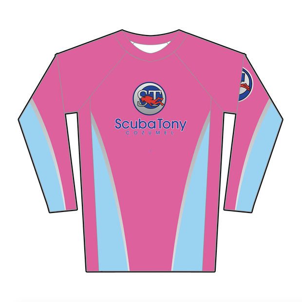 Copy of ScubaTony Rash Guard - Pink