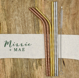 Stainless Steel Straw Pack - Standard (6mm) - Minnie & Mae