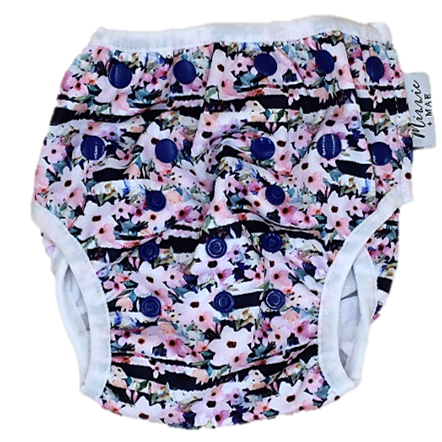 Floral Nautical Swim Nappy - Minnie & Mae