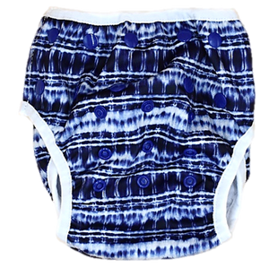Indigo Waves Swim Nappy - Minnie & Mae