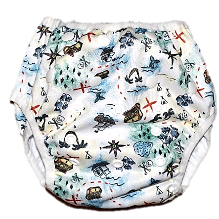 Pirates Booty Swim Nappy - Minnie & Mae