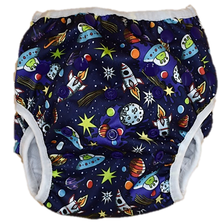 Space Invaders Swim Nappy - Minnie & Mae