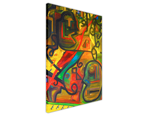 Abstract Dinner and Music Oil Painting Re-printed on Framed Canvas Wall Art Prints Home Decoration Pictures Room Deco Photo-3D