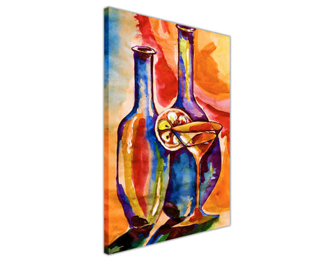 Colourful Cocktail Painting Re-printed on Framed Canvas Wall Art Prints Home Decoration Pictures Room Deco Photo-3D