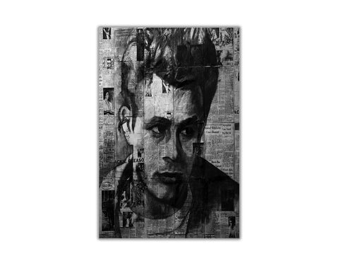 Black and White Newspaper Montage of James Dean on Framed Canvas Wall Art Prints Pictures Celebrity  sc 1 st  canvasitup & Black and White Newspaper Montage of James Dean on Framed Canvas ...