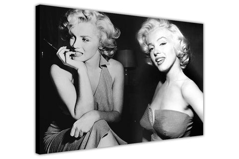 Black and White Marilyn Monroe Montage on Canvas Wall Art Prints Framed Pictures Home Decoration Celebrity Photos Room Deco Famous People-3D