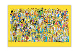 The Simpsons Cast on Framed Canvas Wall Art Prints Movie Pictures TV photos Home Decoration Room Deco Posters-Front
