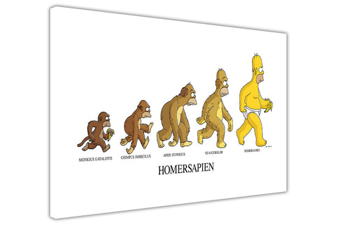 Evolution of The Simpsons Cast on Framed Canvas Wall Art Prints Movie Pictures TV photos Home Decoration Room Deco Posters-3D