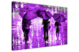 Lavender Landscape oil painting of umbrellas with a variety of colours By Leonid Afremov Oil Painting Re-printed on Framed Canvas Wall Art Prints Home Decoration Pictures Room Deco Photo-3D