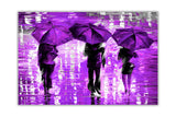 Lavender Landscape oil painting of umbrellas with a variety of colours By Leonid Afremov Oil Painting Re-printed on Framed Canvas Wall Art Prints Home Decoration Pictures Room Deco Photo-Front