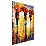 Colourful Portrait oil painting of umbrellas with a variety of colours By Leonid Afremov Oil Painting Re-printed on Framed Canvas Wall Art Prints Home Decoration Pictures Room Deco Photo-3D
