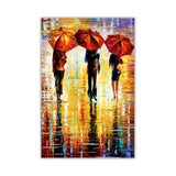 Colourful Portrait oil painting of umbrellas with a variety of colours By Leonid Afremov Oil Painting Re-printed on Framed Canvas Wall Art Prints Home Decoration Pictures Room Deco Photo-Front