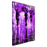 Lavender Portrait oil painting of umbrellas with a variety of colours By Leonid Afremov Oil Painting Re-printed on Framed Canvas Wall Art Prints Home Decoration Pictures Room Deco Photo-3D