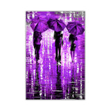 Lavender Portrait oil painting of umbrellas with a variety of colours By Leonid Afremov Oil Painting Re-printed on Framed Canvas Wall Art Prints Home Decoration Pictures Room Deco Photo-Front