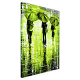 Lime Green Portrait oil painting of umbrellas with a variety of colours By Leonid Afremov Oil Painting Re-printed on Framed Canvas Wall Art Prints Home Decoration Pictures Room Deco Photo-3D
