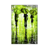 Lime Green Portrait oil painting of umbrellas with a variety of colours By Leonid Afremov Oil Painting Re-printed on Framed Canvas Wall Art Prints Home Decoration Pictures Room Deco Photo-Front